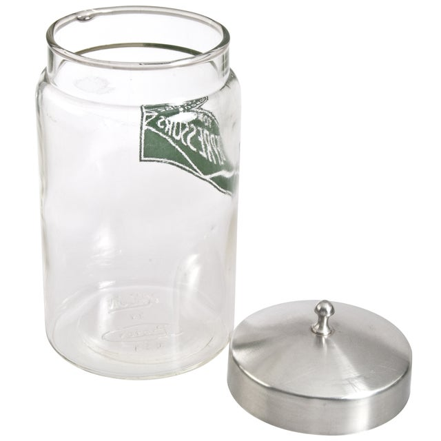 Modern Kalon Profex Glass Tongue Depressor Storage Jar For Sale - Image 3 of 3