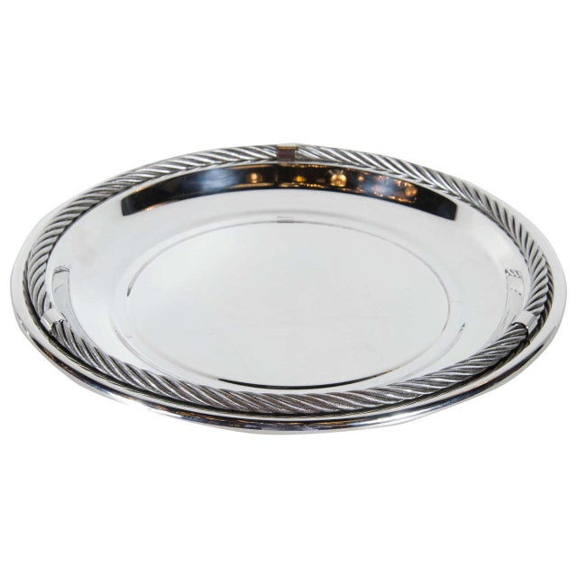 Stunning Mid-Century Modernist Tray in Silver-Plate by Christian Dior For Sale In New York - Image 6 of 6
