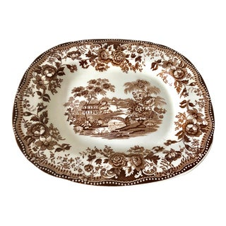Staffordshire Brown Platter For Sale