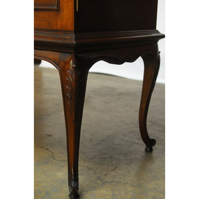 Louis XV Style Carved Walnut Cabinet on Stand - Image 6 of 10