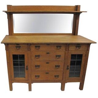 Arts & Crafts Mission Oak Sideboard Buffet For Sale