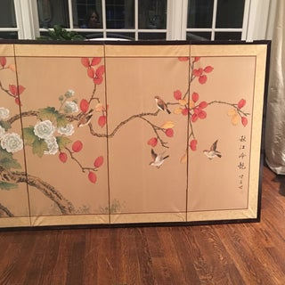 1960s Vintage Chinoiserie Folding Screen Preview