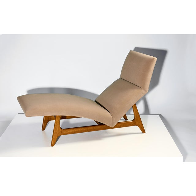 Wood Harvey Probber Chaise Lounge Circa 1950s For Sale - Image 7 of 7