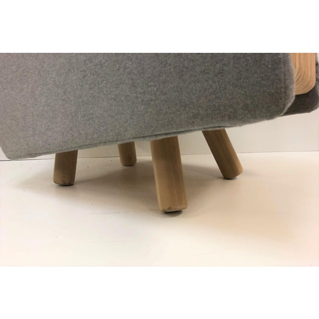 Gray Custom Plywood Lounge Chair For Sale - Image 8 of 9