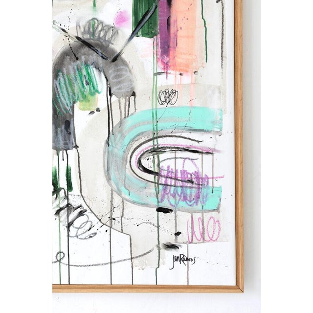 """Abstract """"He Who Seeks Beauty Will Find It"""" Original Abstract Painting by Jen Ramos For Sale - Image 3 of 4"""