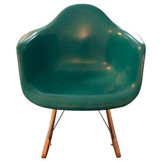 Molded Fiberglass Armchair with Rocker Base