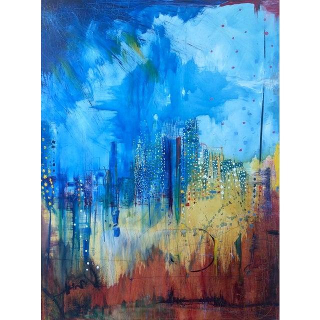 Watercolor Acrylic Painting Miami Summer Chairish - Painting miami