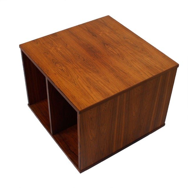 Danish Modern Rosewood Rolling Book Caddy Table - Image 2 of 5