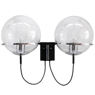 RAAK Double Glass Globe Wall Light For Sale