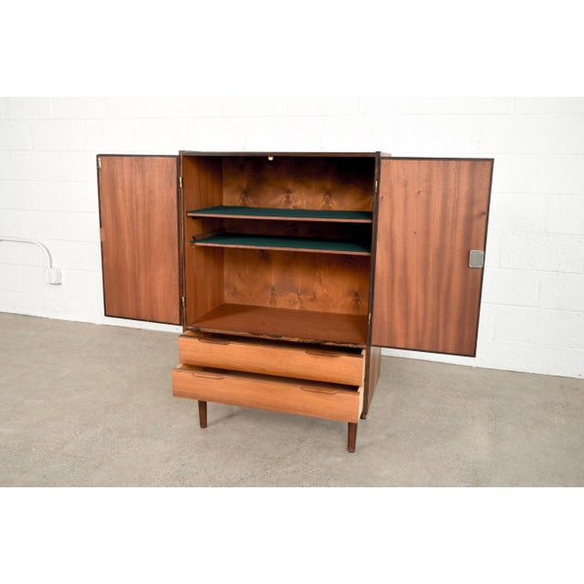 Mid Century Danish Modern Rosewood Bar Cabinet For Sale In Detroit - Image 6 of 11