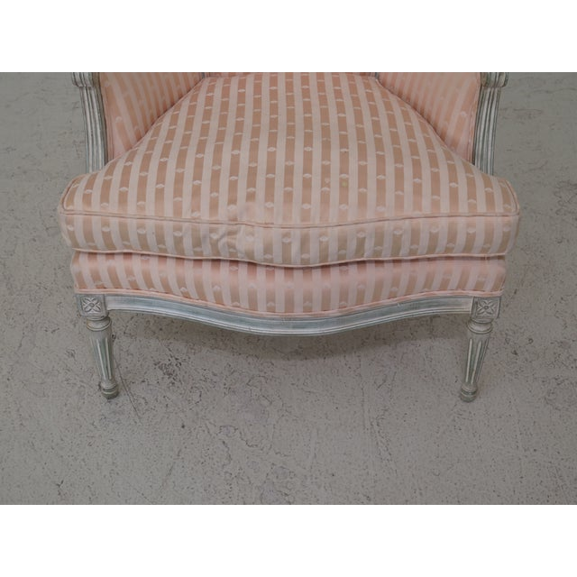 French 1980s Vintage French Louis XV Style Paint Decorated Bergere Chair For Sale - Image 3 of 12