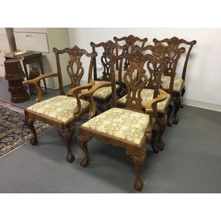 Mahogany Chippendale Style Dining Room Chairs- Set of 6 Preview