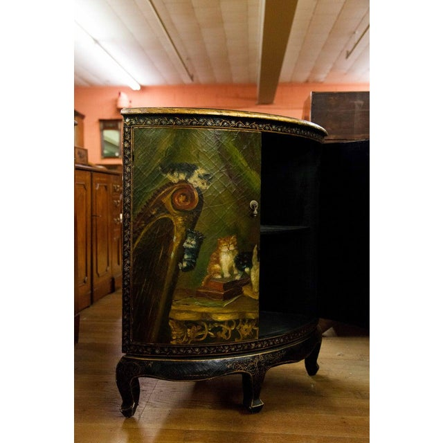 19th Century Painted Corner Cupboard For Sale - Image 4 of 10