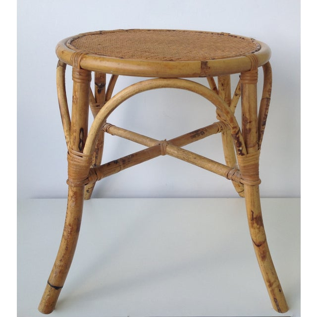 English Bamboo Round Occasional Table - Image 10 of 11