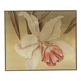 Frank Walcutt Floral Oil on Canvas Artwork For Sale