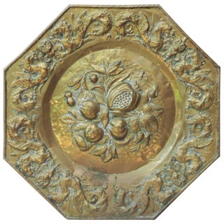 19th Century French Brass Fruits Platter For Sale