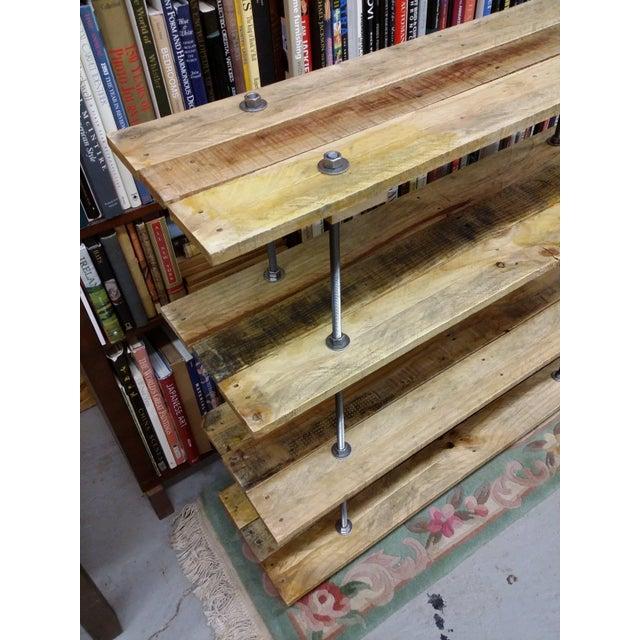 Industrial Style 4 Shelf Pallet Wood Bookcase   Chairish