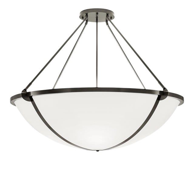Steel Grey Pendant Light For Sale