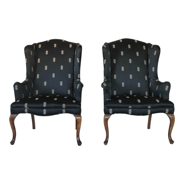 Vintage Wingback Chairs - A Pair - Image 1 of 11