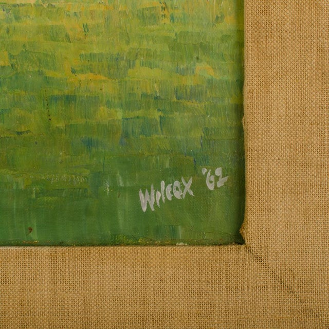 """1960s 1960s """"Flock of Seagulls"""" Abstract Oil Painting, Framed For Sale - Image 5 of 12"""
