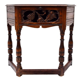 Early 20th Century Feudal Oak Jamestown Lounge Co. Console Table For Sale