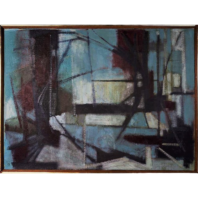 Margaret Klimek Exceptional Vintage Abstract Oil Painting - Image 1 of 4