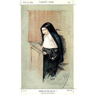 "1869 ""Mary Ann Starr"" Vanity Fair Portrait Lithograph Print For Sale"
