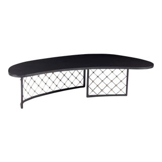 """Jean Royere Rarest Documented """"Tour Eiffel"""" Slate Top Boomerang Table For Sale"""