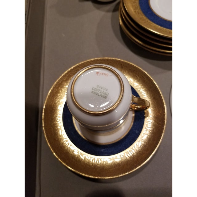 Ceramic Eleven Spode Blue White and Gold Demitasse For Sale - Image 7 of 8