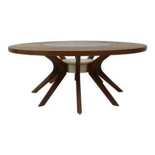 Sculptural Walnut Mid-Century Modern Coffee Table For Sale