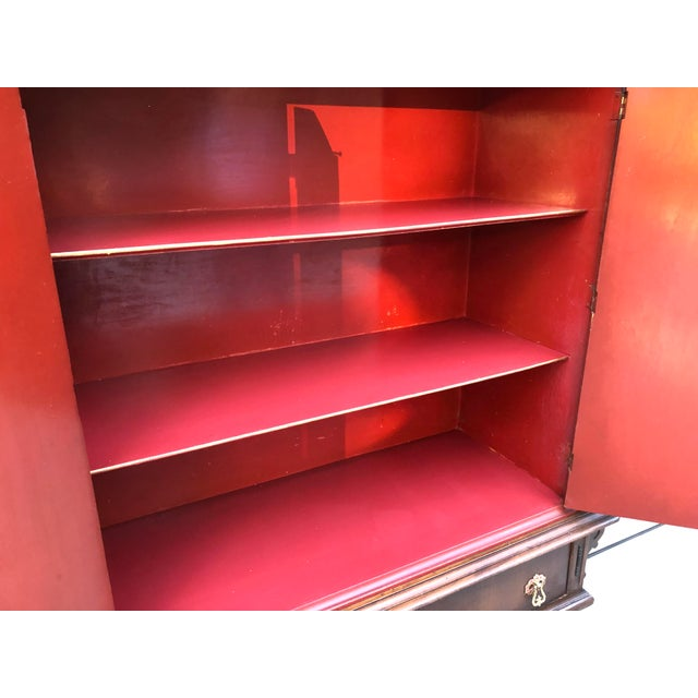 Red Chinese Red Cabinet or Dry Bar For Sale - Image 8 of 13