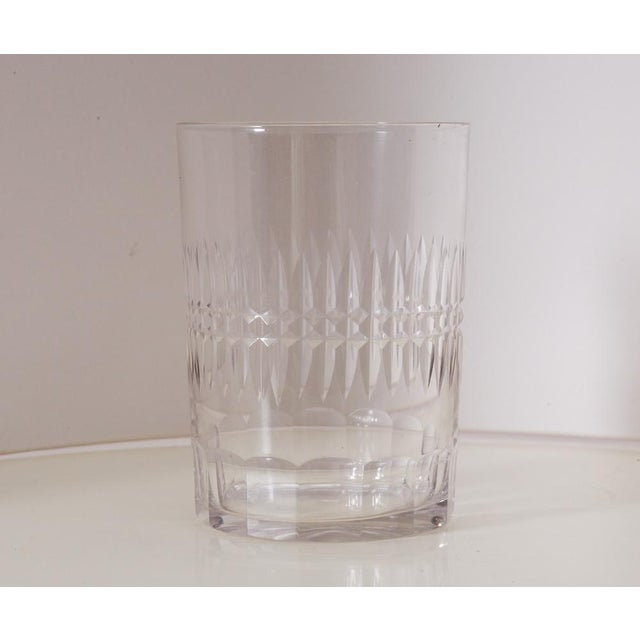 American Classical Antique Hand Cut Crystal Whiskey Tumbler Glasses - Set of 8 For Sale - Image 3 of 6
