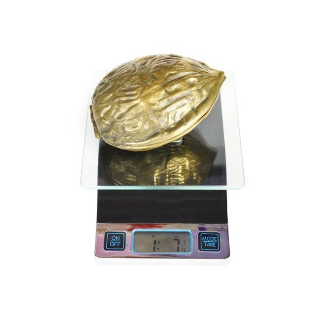 Vintage Heavy Hinged Brass Walnut Shaped Nutcracker For Sale - Image 9 of 10