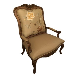 "Paul Robert Savannah Silk Upholstered ""One and a Half"" Chair"