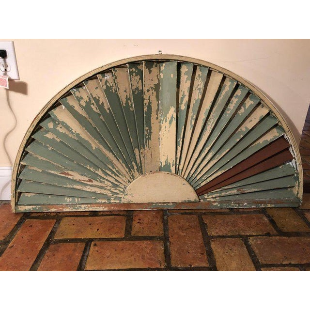 Antique Architectural Demilune Sunburst Window Fragment For Sale - Image 10 of 13
