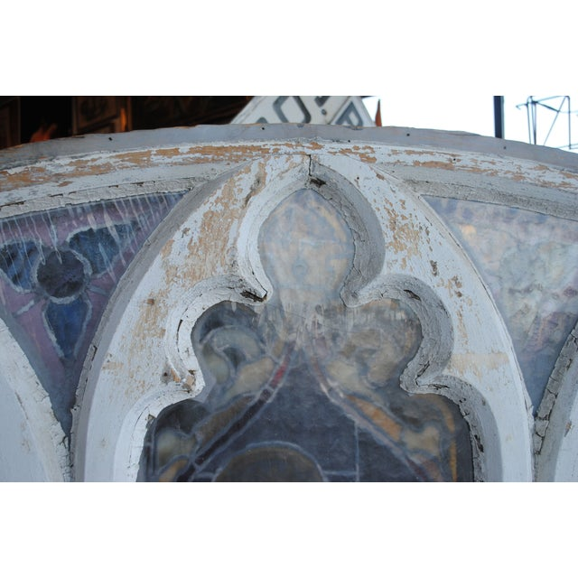 Antique Stained Glass Church Window - Image 7 of 8