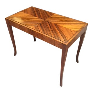 Vintage French Arto Deco Inlaid Occasional Table