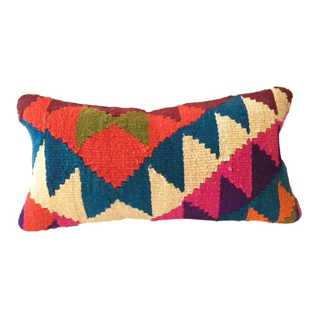 Vintage Kilim Lumbar Pillow - Image 1 of 5