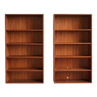 1960s Mid-Century Modern Teak Bookshelves - a Pair For Sale