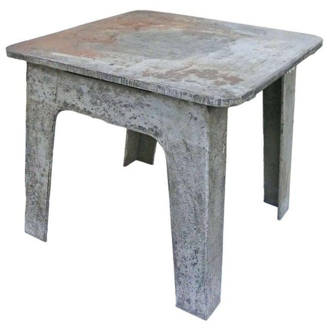 Steel Industrial Side Table For Sale - Image 4 of 6