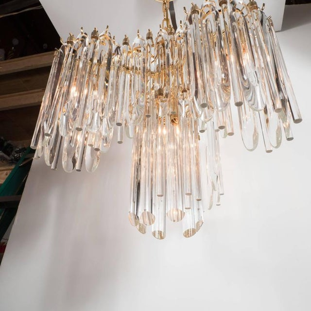 Mid-Century Draped Design Chandelier by Lobmeyr, 24-Karat Gold-Plated Fittings For Sale - Image 9 of 10