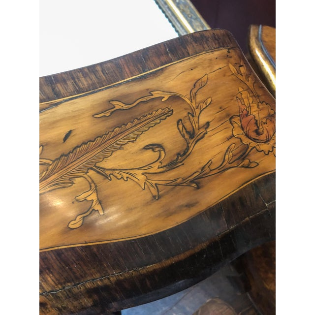 French Inlay Marquetry Bombay Desk / Secretary For Sale - Image 3 of 10