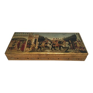 Vintage Florentine Rectangular Box For Sale