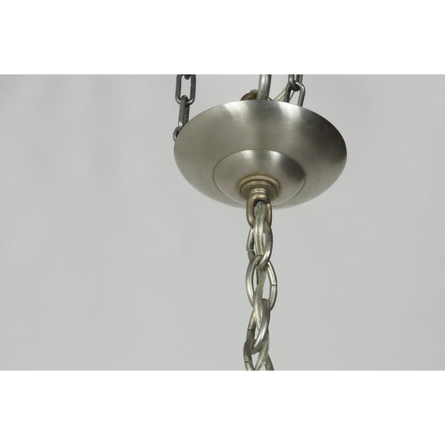 Mid-Century Modern Solid Aqua Murano Glass Chandelier For Sale In San Francisco - Image 6 of 11