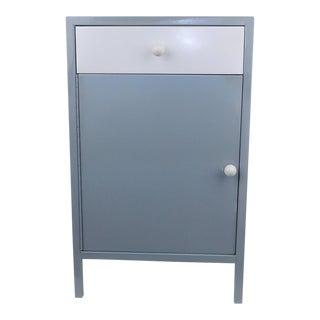 Gray White Shelf Bar Cabinet Wine Barware Storage Coffee Station For Sale