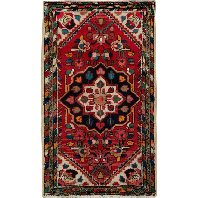 """Vintage Persian Hamadan Rug – Size: 2' 5"""" X 4' 1"""" For Sale - Image 9 of 9"""
