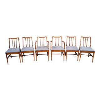 Mid Century Modern Teak Dining Chairs - Set of 6 For Sale