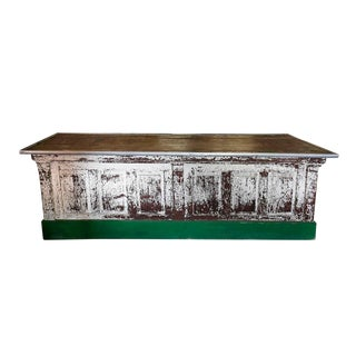 Antique Rustic Store Counter For Sale