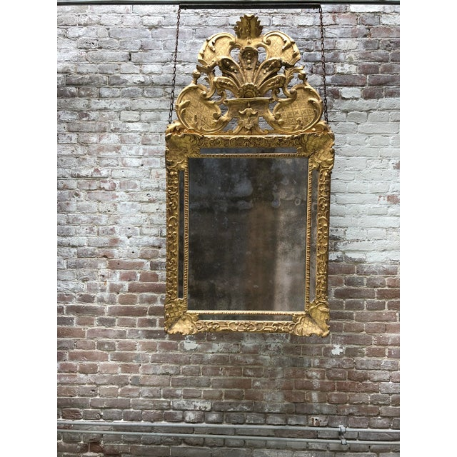 Early 18th Century 18th Century Mirror Louis XIV For Sale - Image 5 of 6