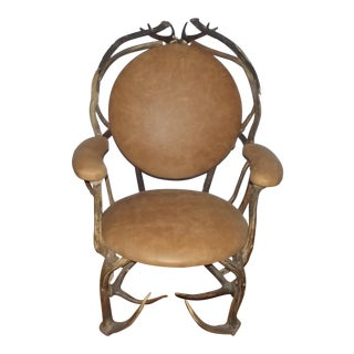 Early 20th Century Antique Antler Chair For Sale